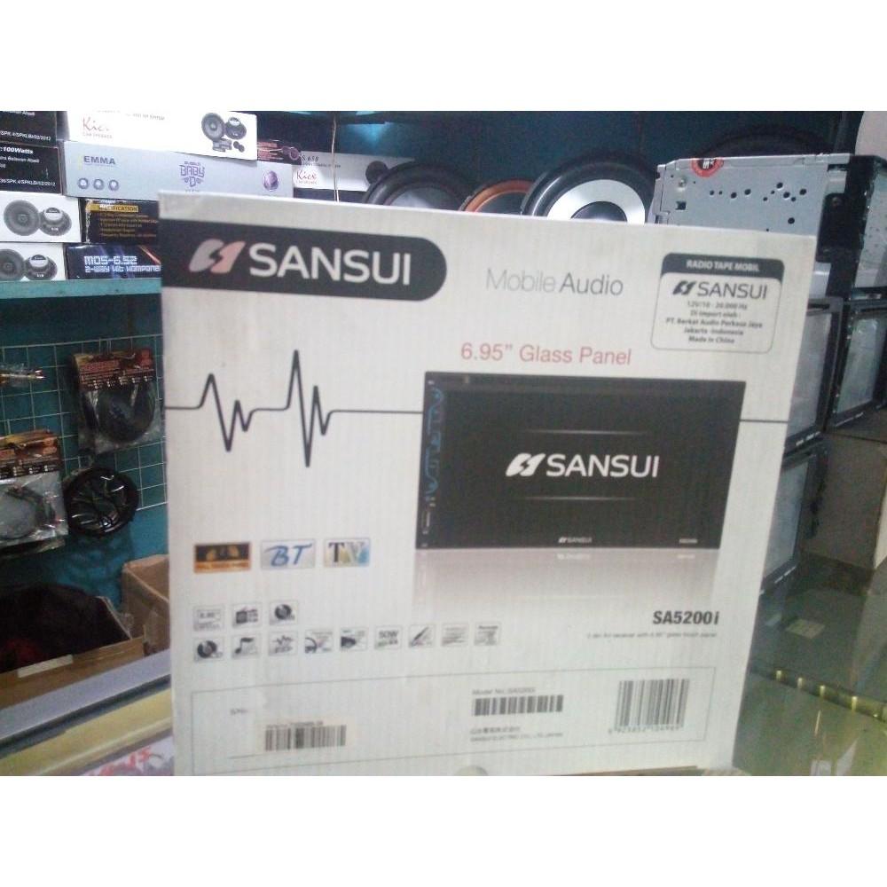 Doubledin Sansui Tv Mobil Murah Shopee Indonesia Double Din 5202 I Osaka Support Mp4 Dan Full Hd