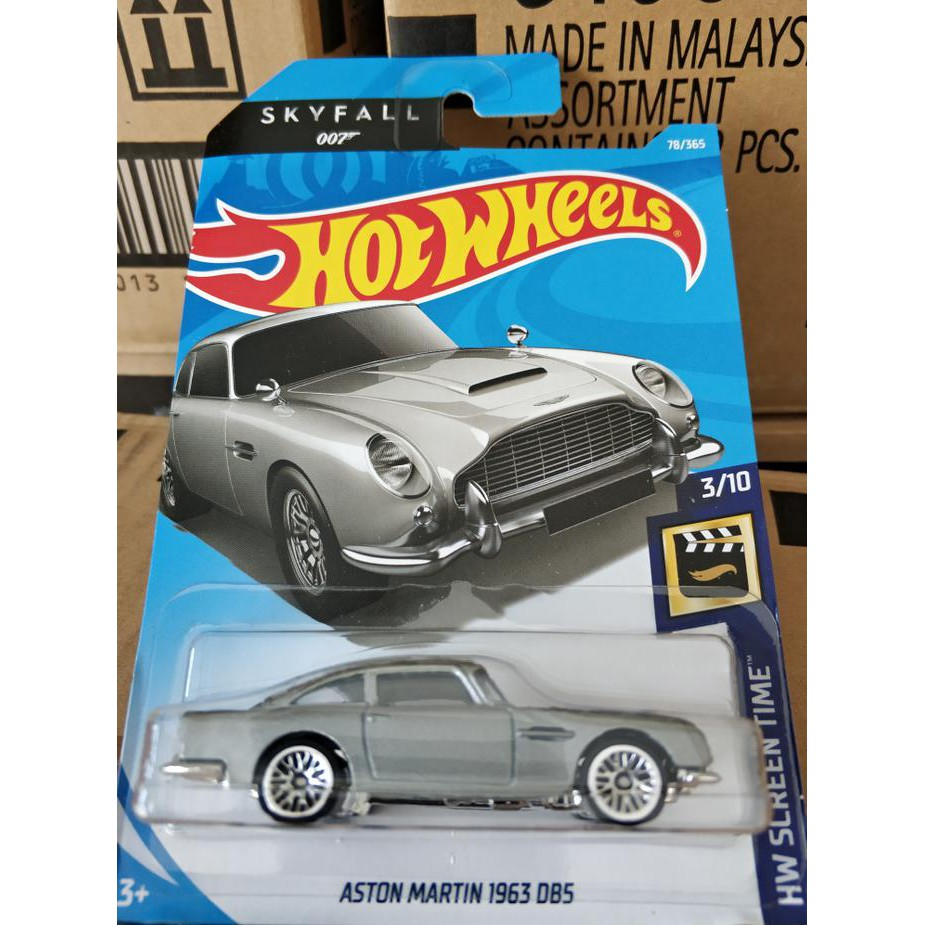 Baru C0044 Hot Wheels Hotwheels Aston Martin 1963 Db5 Silver Shopee Indonesia