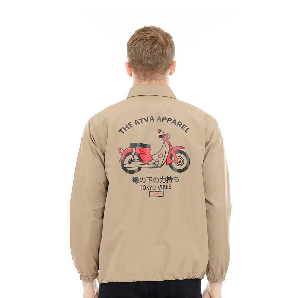 Jaket Coach Pria Series ATVA Biker Khaki