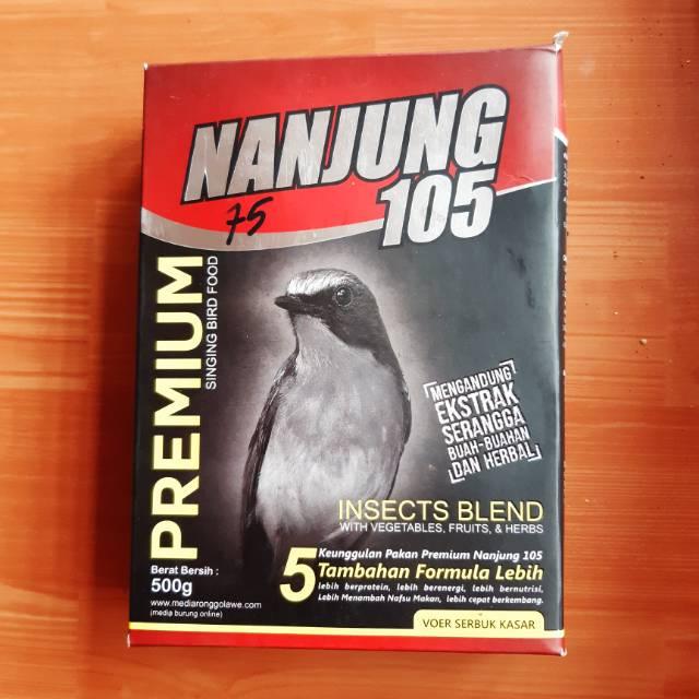 Nanjung 105 Ebod Jaya Pur Voer Kasar Pakan Burung Juara Anis Murai Nanjung Merah Shopee Indonesia