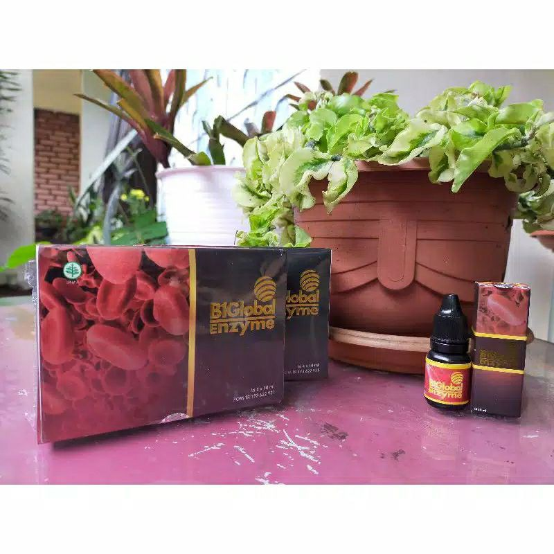 B1global Enzim/Biglobal Enzim Original obat mata katarak rabun plus minus 1 box isi 4 botol
