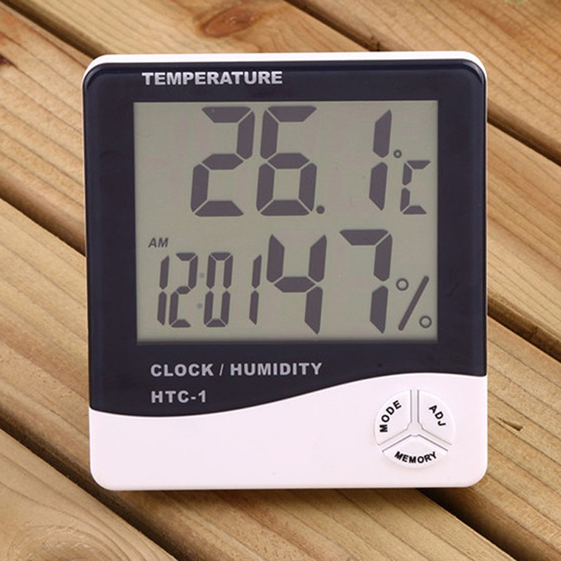 Thermo Hygrometer Digital (THD4) Pengukur Suhu dan Kelembaban Jam HTC1 HTC-1 MURAH   Shopee Indonesia