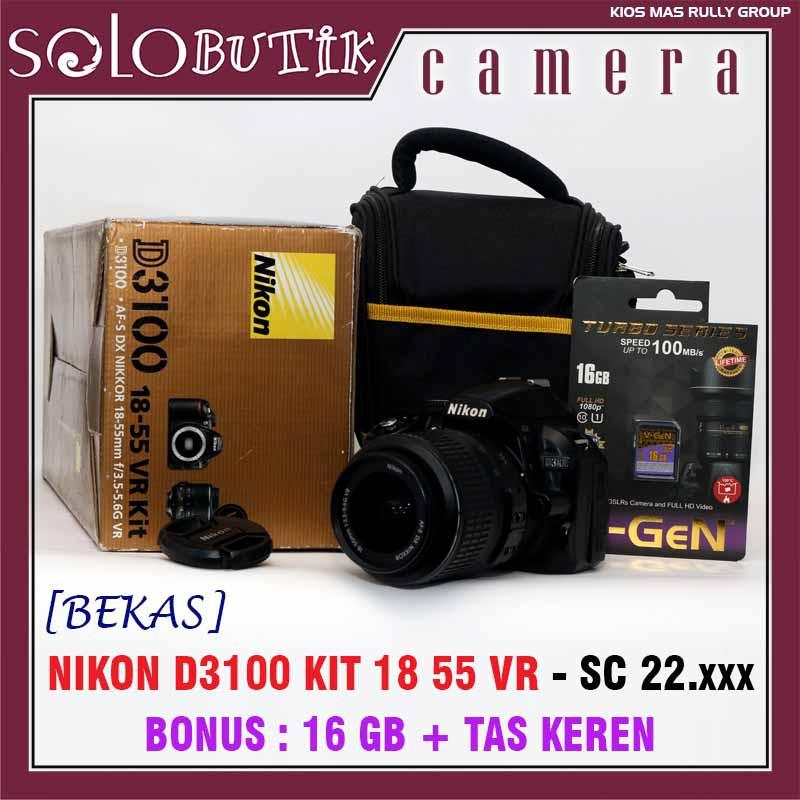 Nikon D3100 Kit 18 55 Vr Kamera Dslr Bekas Siap Pakai Murah Bergaransi