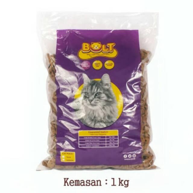 Makanan Kucing Cat Food Bolt 1 Kg Tuna Bentuk Fish Shopee