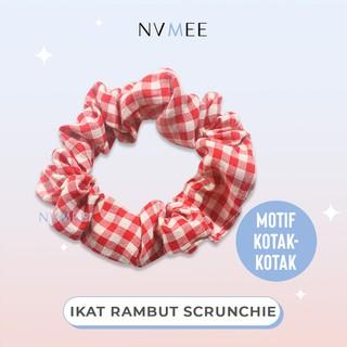NVMEE - Scrunchie Ikat Karet Cepol Rambut Motif kotak thumbnail