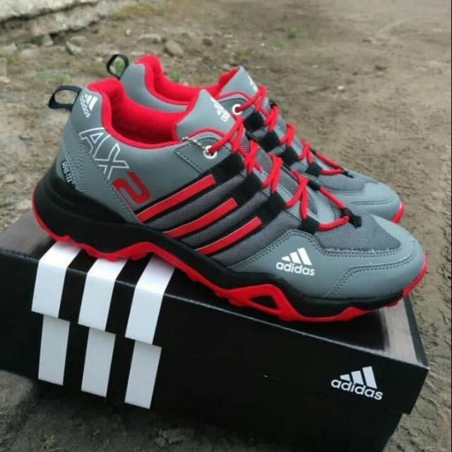 Sepatu sport out door adidas AX2 hijau abu grade ori  e74bb11ae3