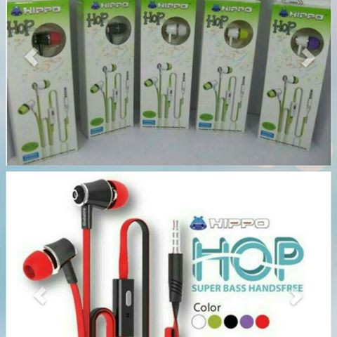 Headset hippo HIP / handsfree / earphone original #FJ031 | Shopee Indonesia