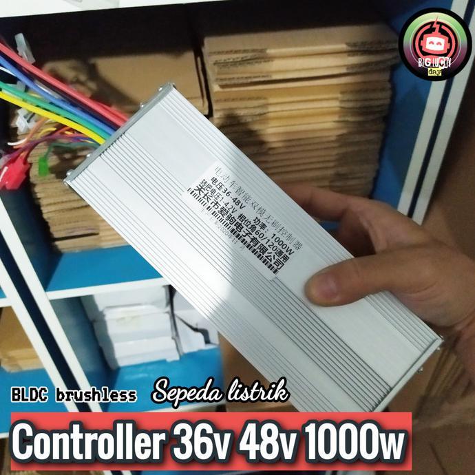 Kualitas Terbaik] Controller 36V 48V 1000W Bldc Brushless Kontroler Selis Motor Listrik