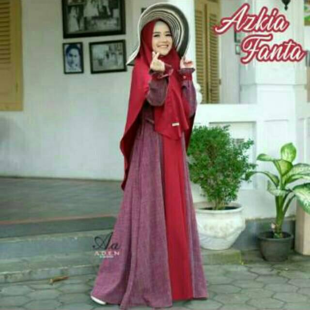 Sarimbit / gamis azkia by Aden hijab Ready