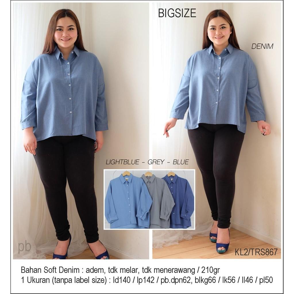 Supplier Jumbobigsize Baju Atasan Kemeja Hem Shirt Bordir Garis Jumbo Bigsize Star Blouse Xxl Big Size 867 Jogja Shopee Indonesia