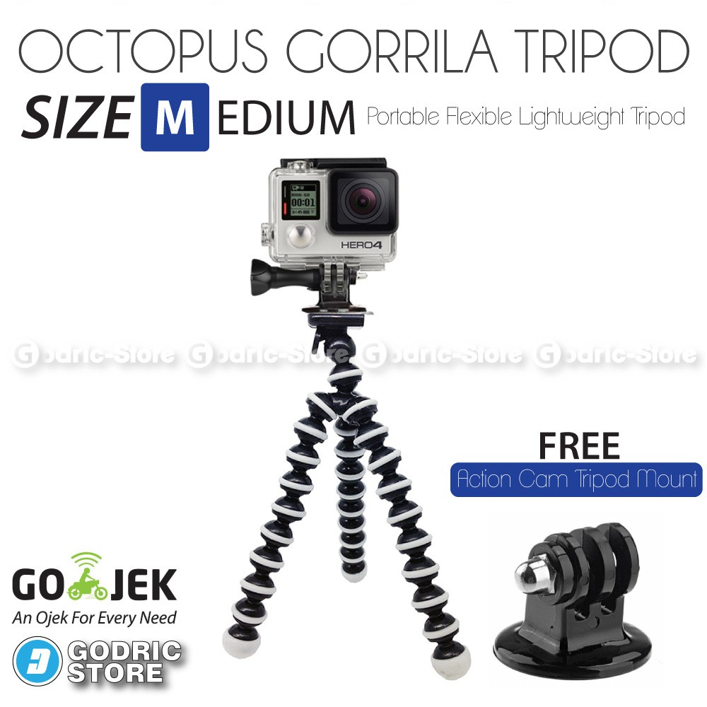 Godric Pivot Arm With Knob Adjustable 3 Way for Xiaomi Yi / GoPro / Brica Action Camera | Shopee Indonesia