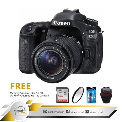 [Kamera] KAMERA CANON EOS 80D KIT 18-55 IS STM / KAMERA CANON 80D/ EOS 80D/ 80D