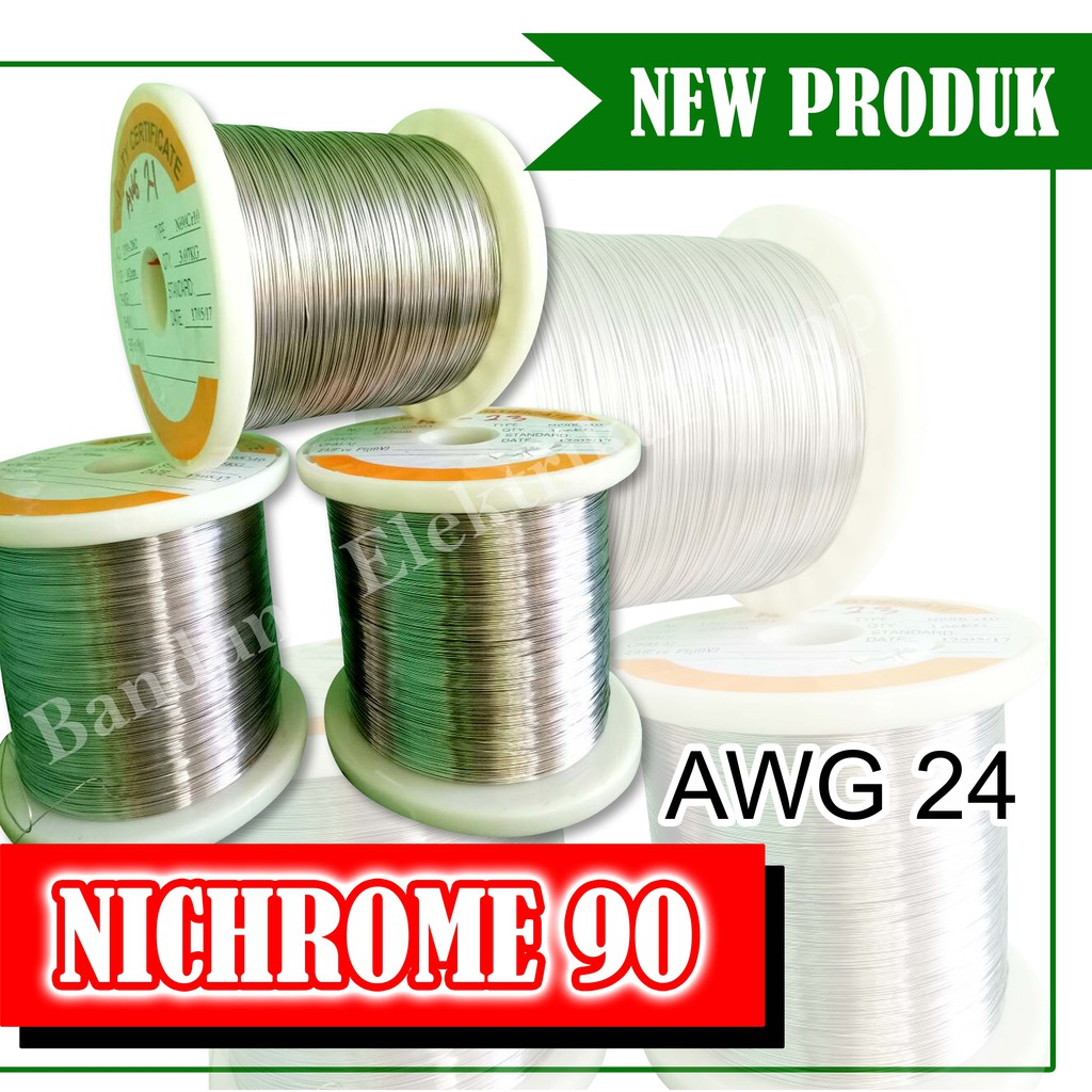 Nichrome Flat Ribbon Awg 24 Ni80 Shopee Indonesia Geekvape Wire Geek Vape Kawat  Grosir