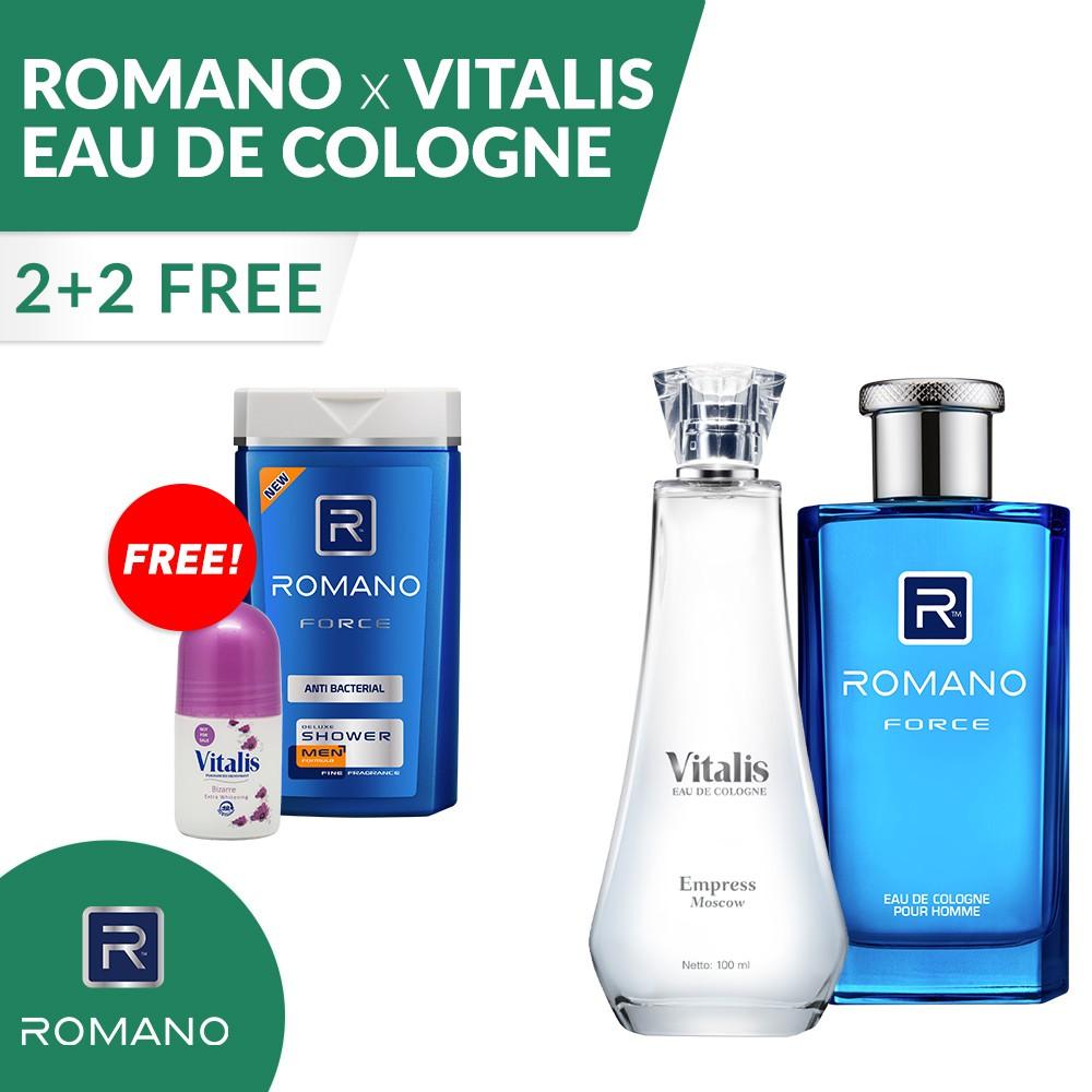 BUY 2 GET 1 FREE Vitalis Eau De Cologne White Empress 100Ml + FREE Roll On | Shopee Indonesia