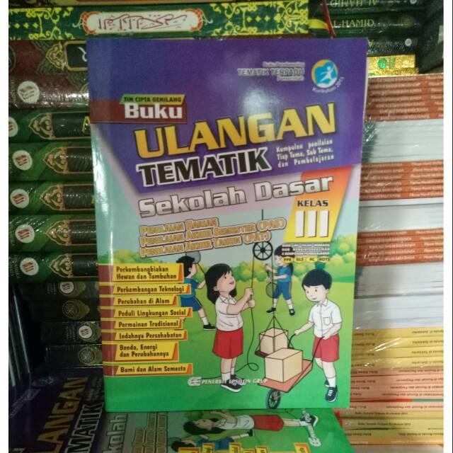 Buku Ulangan Tematik Sd Kelas 3 Lengkap Dari Tema 1 8 Plus Kunci Jawaban Shopee Indonesia