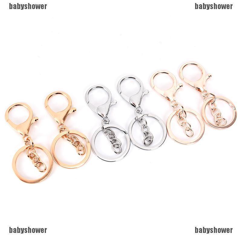 10PCS DIY Key Rings Key Chain Jewelry Findings Lobster Clasp Keyring Make