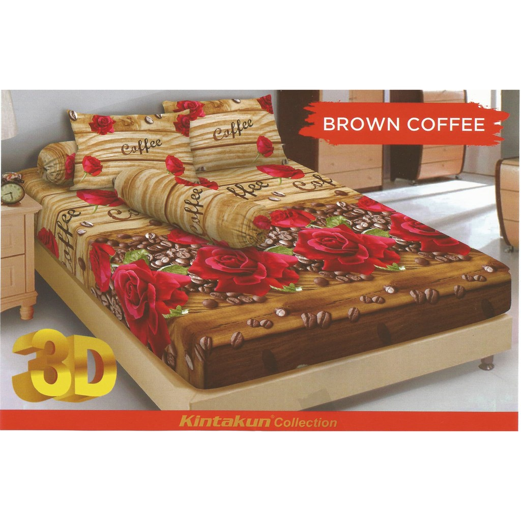Sprei Kintakun Deluxe Dluxe Motif Azaki Shopee Indonesia 120x200 Single