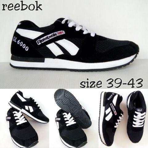 Model Sepatu Pria Terbaru sepatu reebok GL 6000 hitam khansa ... 1455f2304d