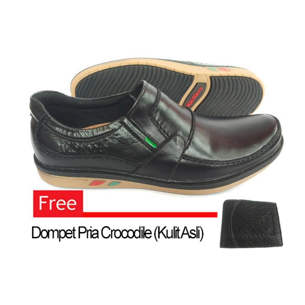 OBRALMURAH Sepatu Kulit Kickers Casual Premium 034 Free Dompet Kulit Asli  28ca4c7d98