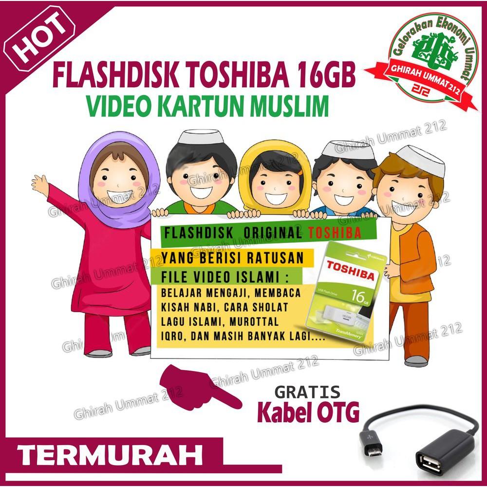 Lucu Flasdisk 16 Gb Video Edukasi Anak Muslim Murah Trendi