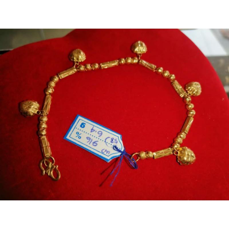 Gelang Tangan Emas 916/23 Karat Model Love