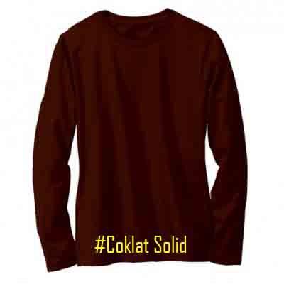 Kaos Polos Lengan Panjang Coklat Solid Kaos Dsitro 100 Cotton Combed 30s Reaktif Pria Wanita Shopee Indonesia