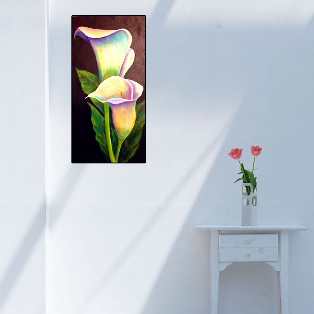 DIY Lukisan Diamond 5D Dengan Gambar Bunga Lily Dan Hiasan Berlian Buatan