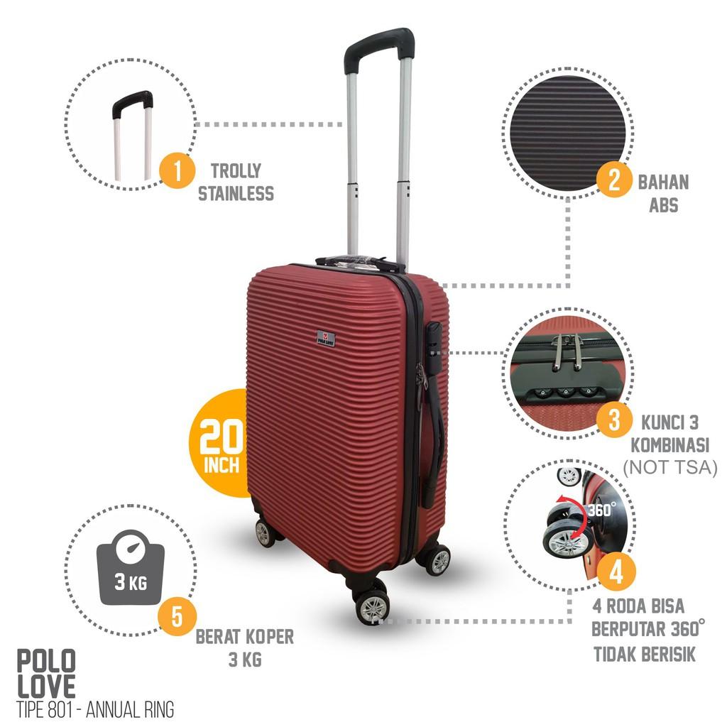 Koper Murah Polo Love Model Annual Ring 20 Inch Roda 4 Bahan Abs Kain Ukuran 24 Inc 2 Ada Kunci Fiber Travel Shopee Indonesia
