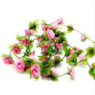 bunga mawar rambat plastik artificial ukuran mini dekorasi