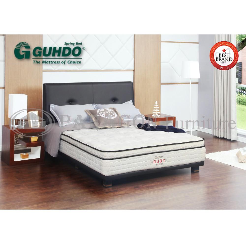 Spring Bed 120x200 Cm Guhdo 2in1 Sapphire Hb Bravo Full Set Matras Ruby Dream Uk 100x200 Hanya Kasur Jadebotabek Only Shopee Indonesia