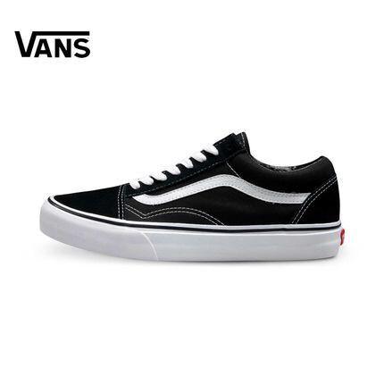 Vans Classic NEW Old Skool Black White Kualitas Terbaik Sepatu Hitam Putih  Pria Wanita  e7deb3e207