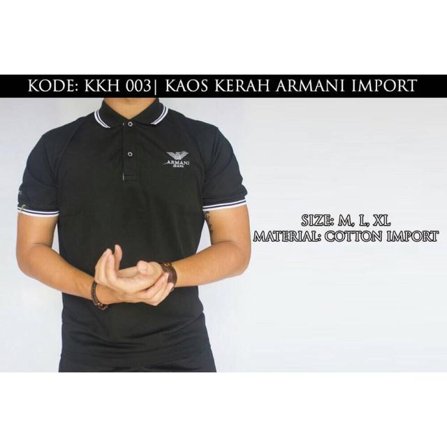 PROMO HARGA KAOS KERAH ARMANI  bafd05ee32