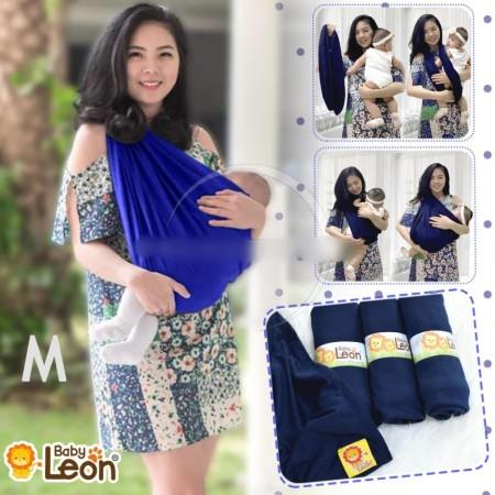 BABY LEON GENDONGAN Bayi Kaos/Geos/selendang Bayi Praktis BY 44 GB Polos Ukuran L - Navy Blue | Shopee Indonesia