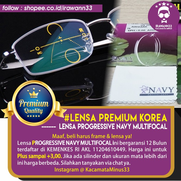 LENSA KACAMATA MINUS ANTI UV ~ Lensa PERFECT LENS coating UNGU untuk Mata  NORMAL b9ad51707c