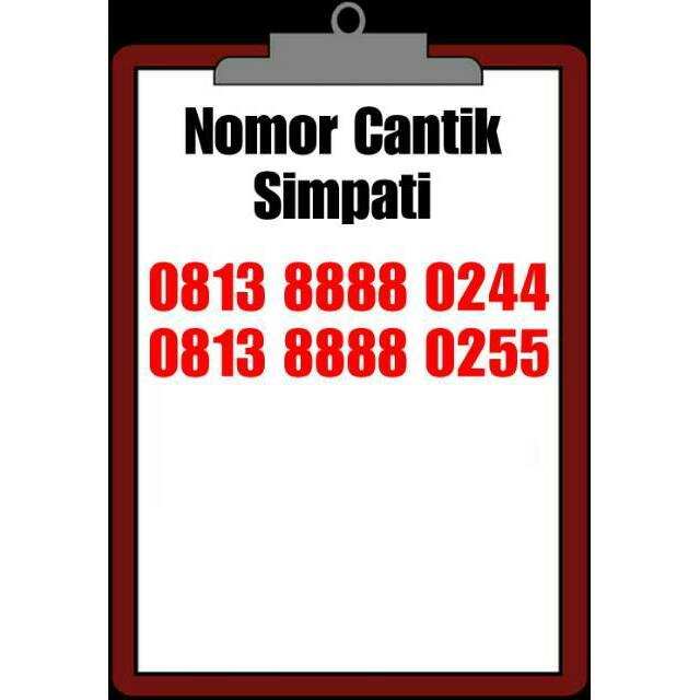 Nomor Cantik Telkomsel Kwartet KW 8888 ujung 0244 dan 0255 | Shopee Indonesia