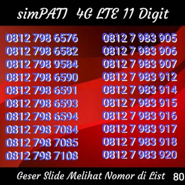 NOMOR CANTIK 11 DIGIT TELKOMSEL SIMPATI 4G LTE BUKAN INDOSAT XL AXIS TRI | Shopee Indonesia