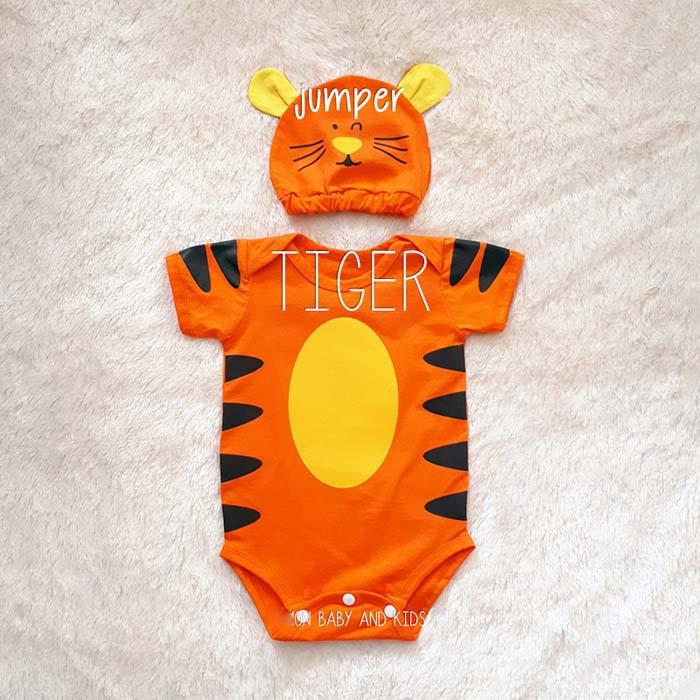 423241e11 Jumper Bayi Tiger + Topi