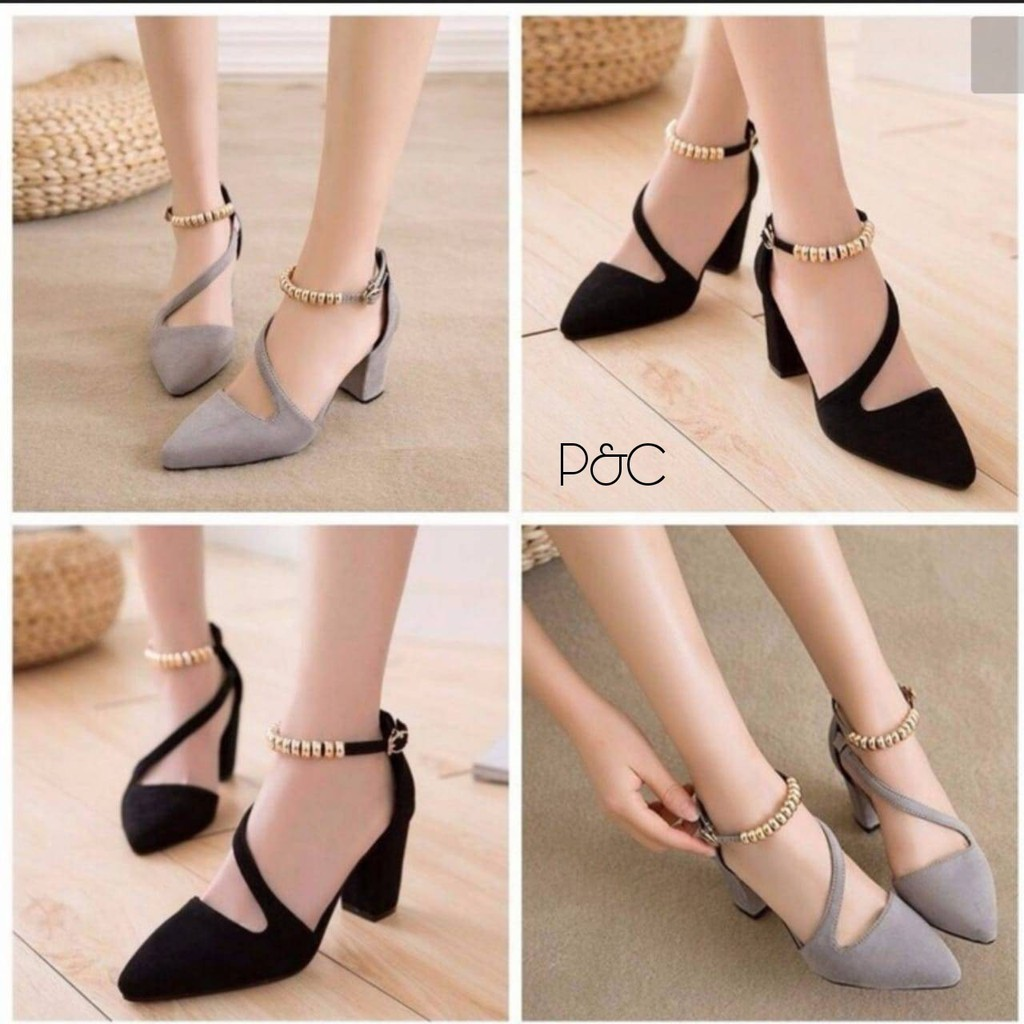 Vincci Heels Shoes Black Red Gray Pink Beludru Suede For Office Amazara Adriana Mustard Kantor Murah Pesta Shopee Indonesia