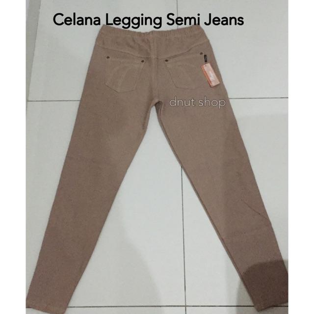 Celana Legging Semi Jeans All Size Panjang Dan Pendek 3 4 Shopee Indonesia