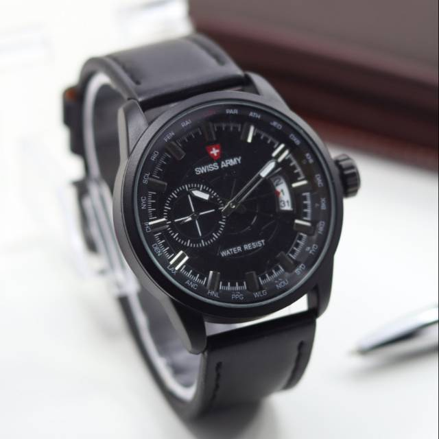 ... Leather Black Strap - White Dial serta voucher. Source · Jam tangan pria elegan PATE-K PHILIPE choro aktif tali kulit | Shopee Indonesia
