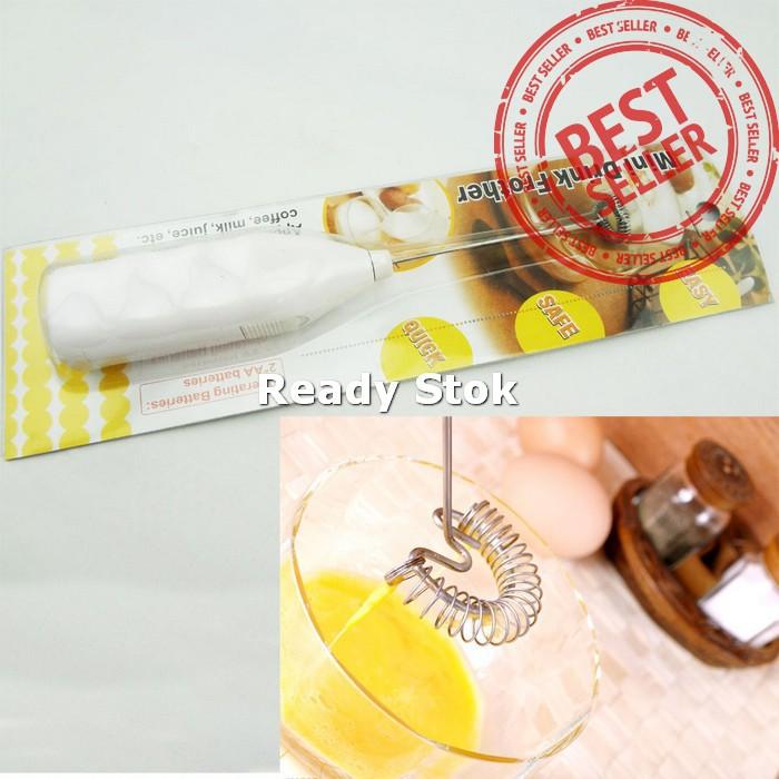 Seniora's Hand Mixer Mini Milk Frother, Pengaduk Minuman & Telur- Blue. Source ·