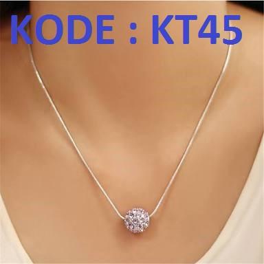 Kalung Titanium Crystal Anti Karat KT45