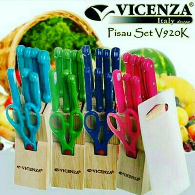 Pisau set Vicenza Warna dan hitam( per set) | Shopee Indonesia