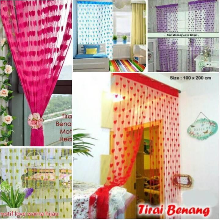 [ TERLARIS ] TIRAI BENANG LOVE / TIRAI BENANG MOTIF LOVE | Shopee Indonesia
