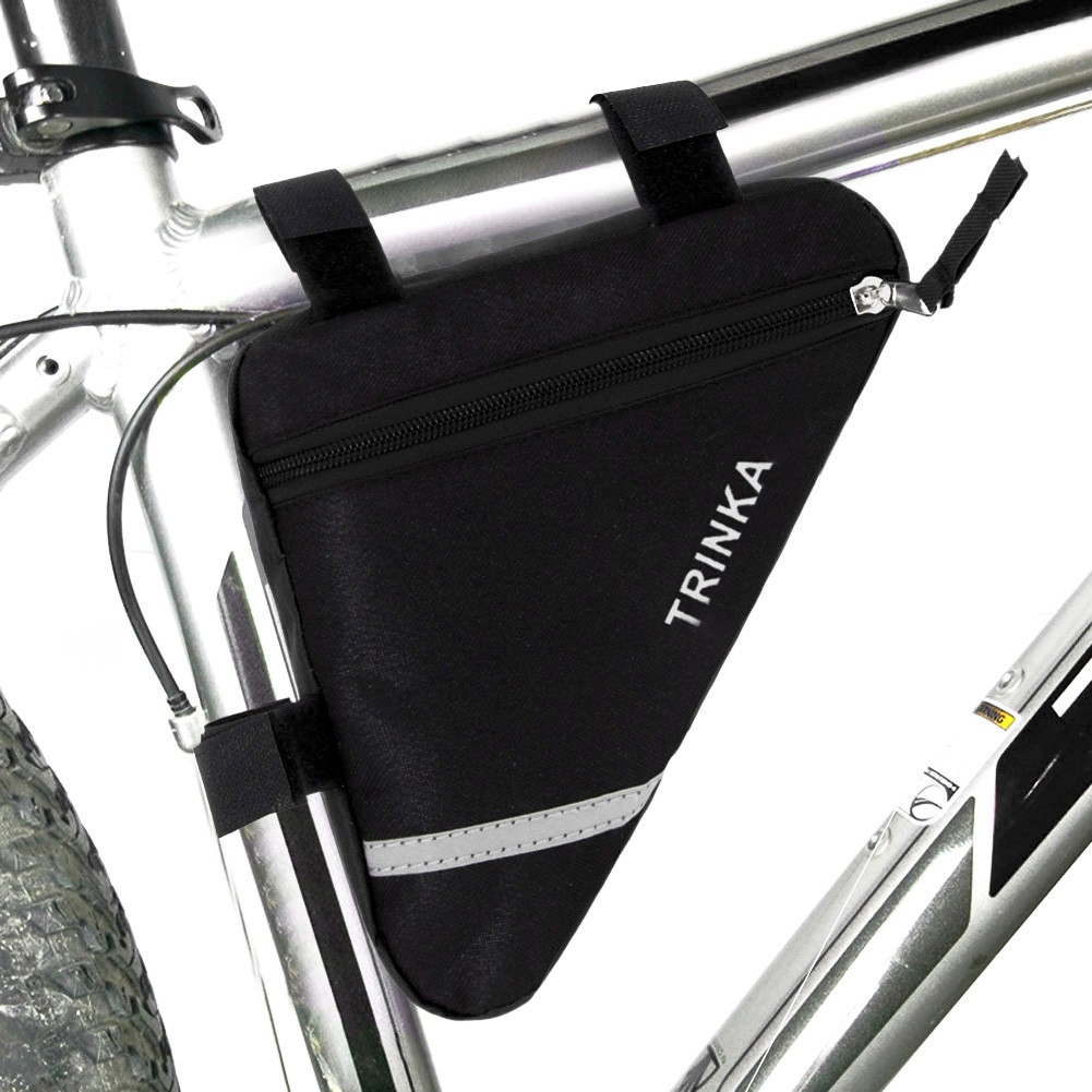 Triangle Bicycle Cycling Bike Riding Bag Pouch Connects to Frame Tools Wallets