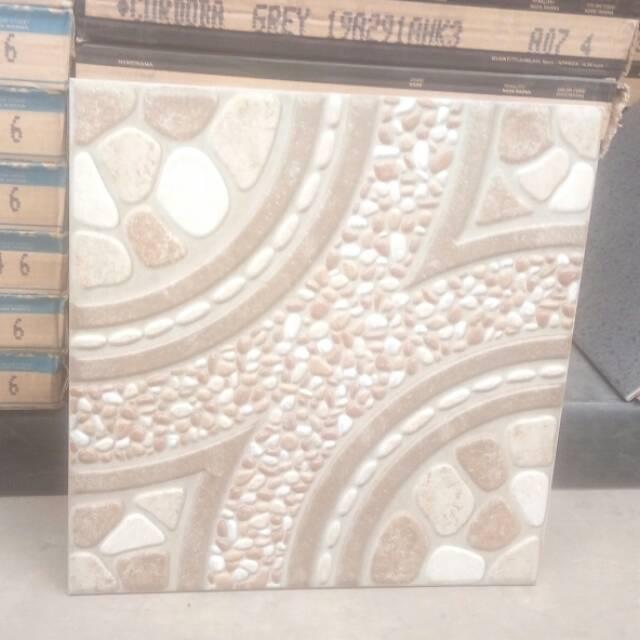 Keramik Lantai Garasi Kw 3 Kia Gratis Ongkir 40x40 Motif Batu Shopee Indonesia