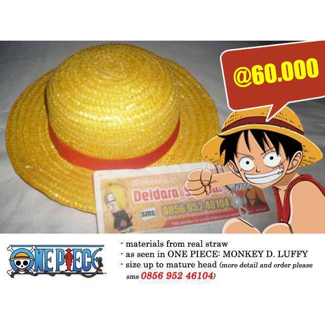 Promo Luffy Hat Topi Jerami Anime Manga One Piece Mugiwara Strawhat Pirate Murah Kualitas Bagus