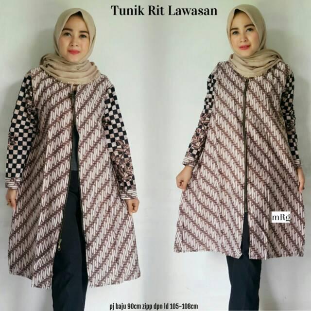 Tunik Batik Tunik Batik Kerja Atasan Batik Wanita Batik Kekinian Batik Modern