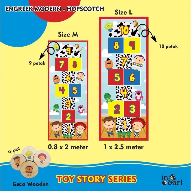 Engklek Modern Toy Story Permainan Tradisional Anak Sondah Hopscotch Mainan Aktivitas Anak Shopee Indonesia