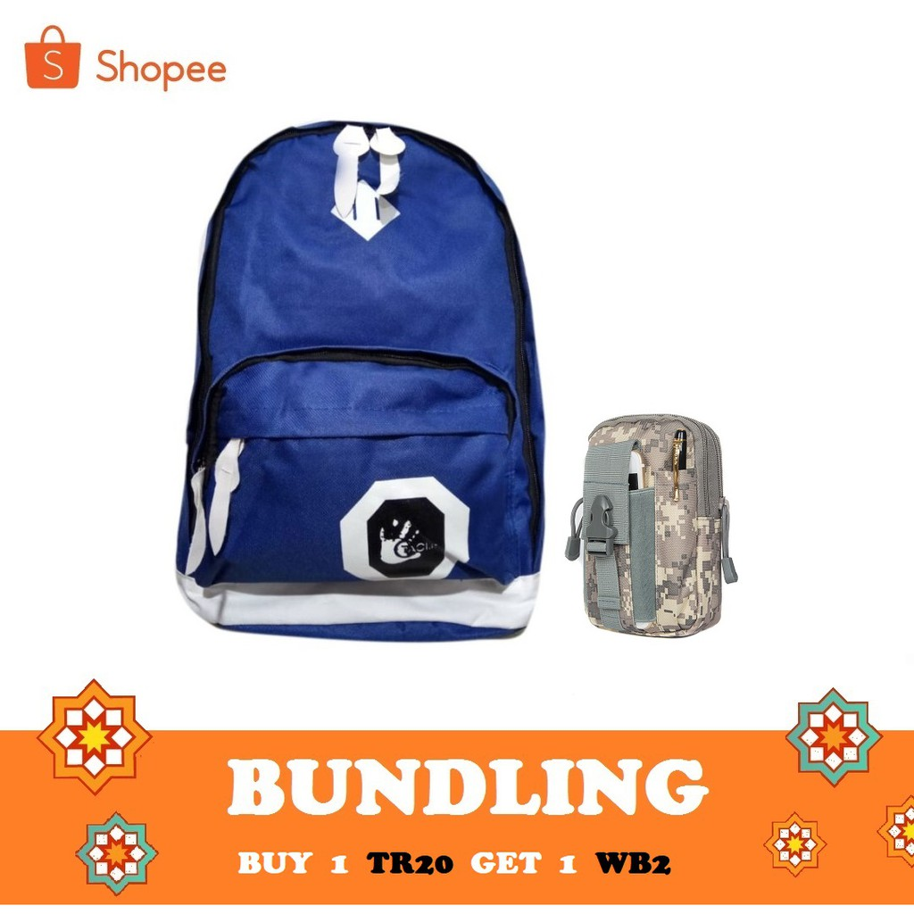 TR3 Tas Ransel Backpack Kanvas Canvas Outdoor Laptop Hiking Punggung Travel bag School | Shopee Indonesia